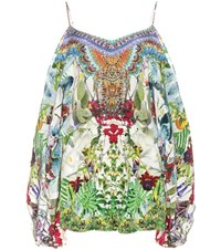 Camilla Embellished Silk Playsuit Multicoloured