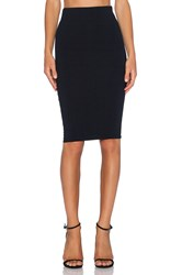 David Lerner Mesh Midi Skirt Black