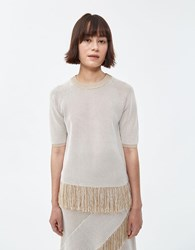Rodebjer Hennu Knit Top Light Sand