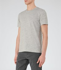 Reiss Barney Mens Crew Neck Cotton T Shirt In Grey