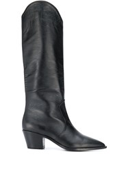 The Seller Knee Length Leather Boots Black