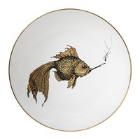 Rory Dobner Perfect Plates Smoky Fish Gold Black And White Gold