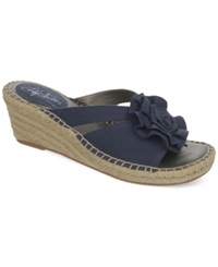 Life Stride Benefit Wedge Sandals Women's Shoes Navy