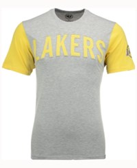 47 Brand '47 Men's Los Angeles Lakers Triple Up T Shirt Gray Gold