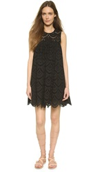 Cynthia Rowley Babydoll Tunic Eyelet Dress Black
