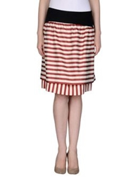 Fendi Knee Length Skirts Beige