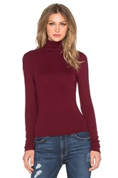 Michael Stars Long Sleeve Turtleneck Maroon