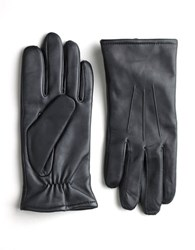 Black Brown Touchpoint Leather Smart Gloves Black