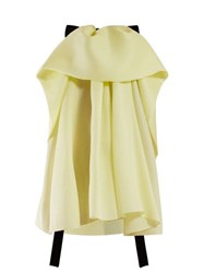 Roksanda Ilincic Amira Draped Crepe Blouse Yellow