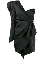 Nineminutes One Shoulder Dress Black