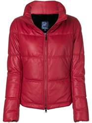 Jacob Cohen Padded Puffer Jacket Red