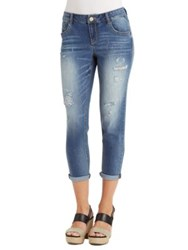 Democracy Faded Distressed Jeans Blue
