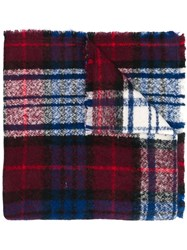 Altea Two Sided Check Scarf Blue