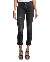Hudson Riley Cropped Relaxed Straight Leg Dark Gray