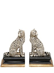 House Of Hackney Cheetah Porcelain Bookends