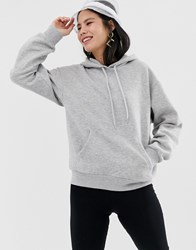 Monki Oversized Classic Hoodie In Grey