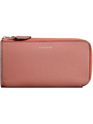 Burberry Two Tone Leather Ziparound Wallet And Coin Case Pink And Purple