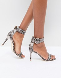 Morgan Faux Snakeprint Barely There Heel Multi