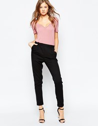 Gestuz Pinstripe Carin Tapered Trousers Black