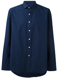 Salvatore Piccolo Sport Shirt Blue