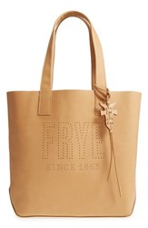 Frye Carson Perforated Logo Leather Tote Yellow Banana