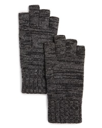 The Men's Store At Bloomingdale's Cashmere Fingerless Gloves Light Grey Mid Grey