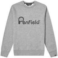 Penfield Capen Logo Crew Sweat Grey