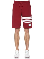 Thom Browne Cotton Jersey Shorts Med Red