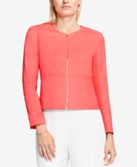 Vince Camuto Cropped Moto Jacket Coral Passion