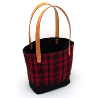 General Knot And Co. Vintage Buffalo Plaid Market Tote