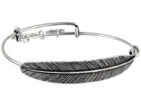 Alex And Ani Quill Feather Wrap Rafaelian Silver Finish Bracelet