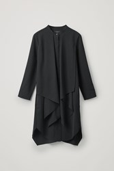 Cos Dress With Draped Layer Black