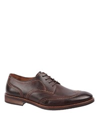 Johnston And Murphy Jarrell Leather Wingtip Oxfords Dark Brown