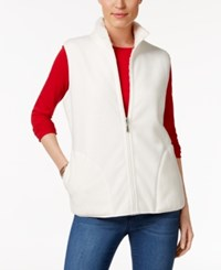Karen Scott Reversible Sherpa Vest Only At Macy's Eggshell