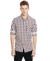 Kenneth Cole Reaction Check Long Sleeve Shirt