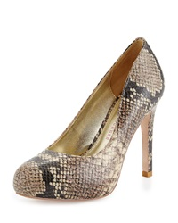 Elaine Turner Designs Kelly Python Embossed Leather Platform Pump