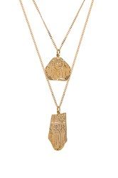 Joolz By Martha Calvo The Creed Collection Necklace Set Metallic Gold
