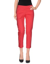Philosophy Di Alberta Ferretti Trousers 3 4 Length Trousers Women Coral