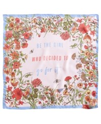 Inc International Concepts I.N.C. Go For It Floral Square Scarf Created For Macy's Pink
