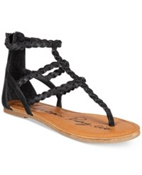 American Rag Madora Braided Gladiator Flat Sandals Only At Macy's Women's Shoes Black