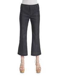 Derek Lam 10 Crosby Cropped Flare Jeans Denim Blue Women's Size 4