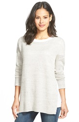 Eileen Fisher Ballet Neck Boxy Organic Linen Top Regular And Petite Natural