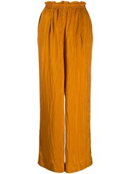 Forte Forte High Waisted Palazzo Trousers Brown