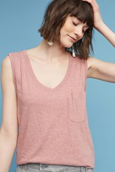 Anthropologie Pocket Tunic Top Red