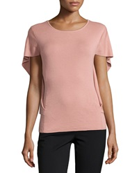 Lafayette 148 New York Butterfly Sleeve Cashmere Blend Sweater Macaroon