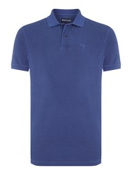 Barbour Men's Washed Short Sleeve Polo Navy