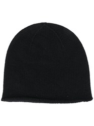 Pringle Of Scotland Fine Knit Beanie Black