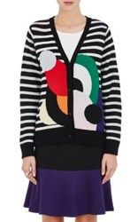 Lisa Perry Women's Striped Wool Cashmere Cardigan No Color