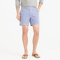 J.Crew 6.5' Tab Swim Short In Gingham Seersucker