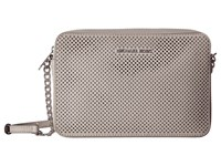 Michael Michael Kors Jet Set Travel Large East West Crossbody Cement Cross Body Handbags Beige